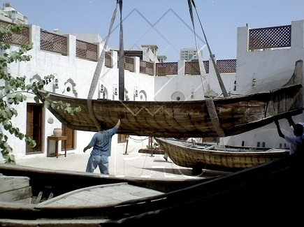 Heavy Handling of Boats - Maritime Museum - Sharjah