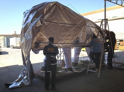 Installation of the bag for Gas Packing